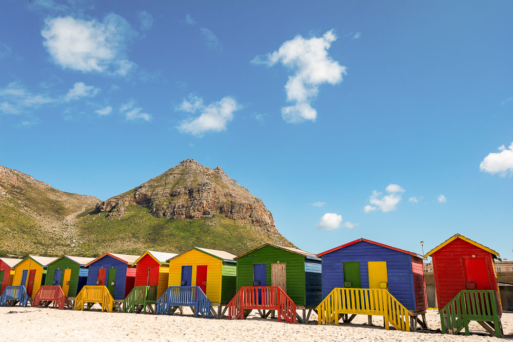 Beachhouses at Muizenberg Beach, Cape Town