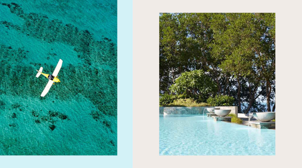 Tropical getaways travel water swim stays