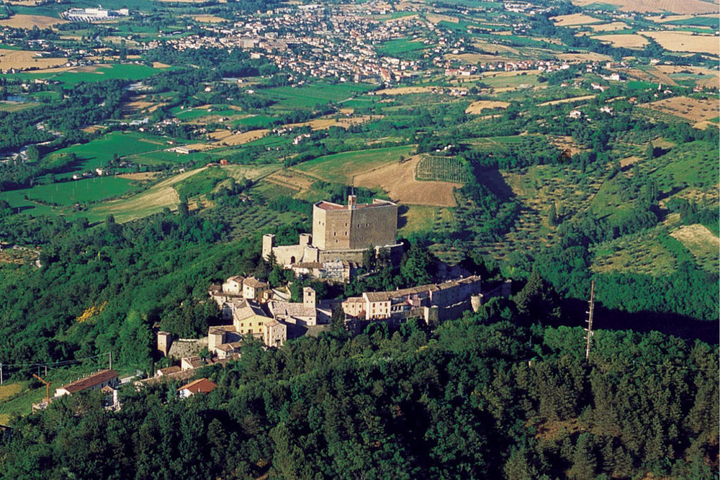 Montefiore Conca Italy village colourful architecture