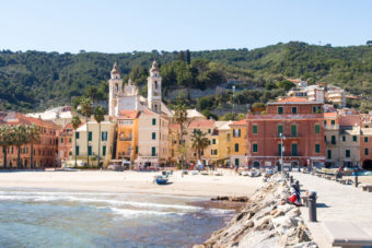 Laigueglia Italy village colourful architecture