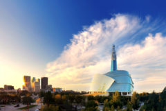 Winnipeg skyline, Manitoba, Canada.