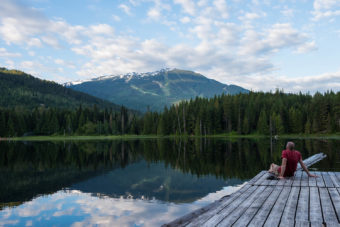Lost Lake during Whistler's summer.
