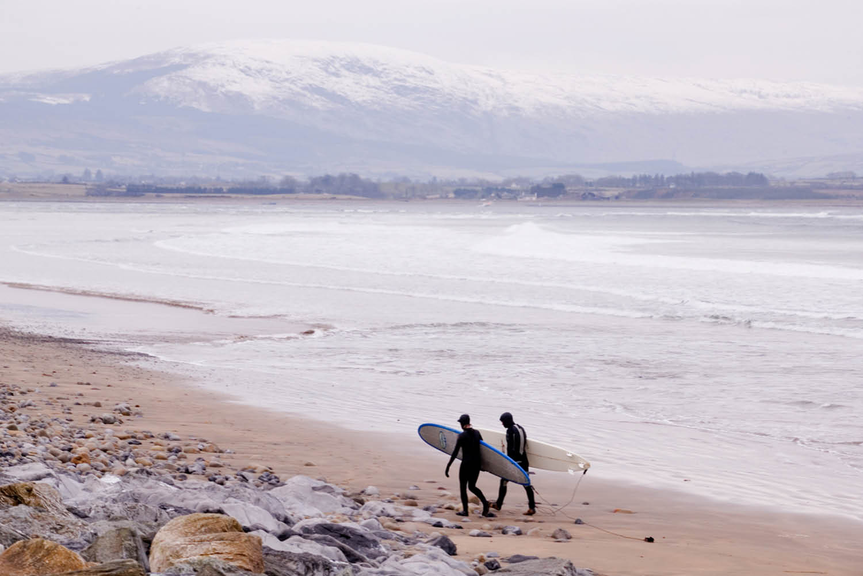 Surfing on the wild Atlantic coast