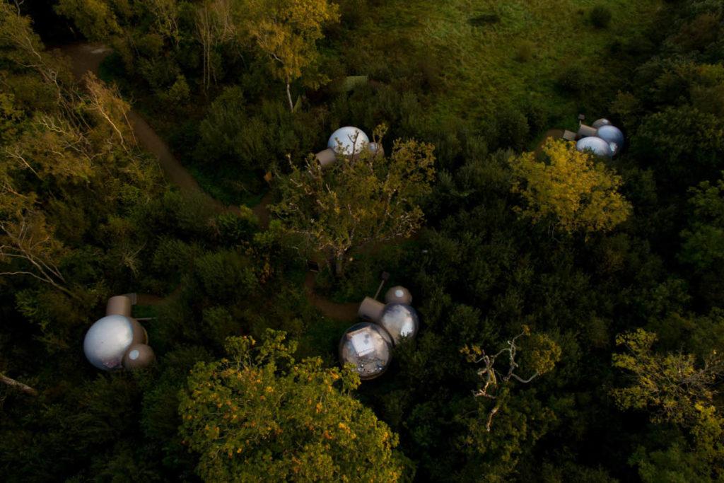 Finn Lough Bubble Aerial Shot