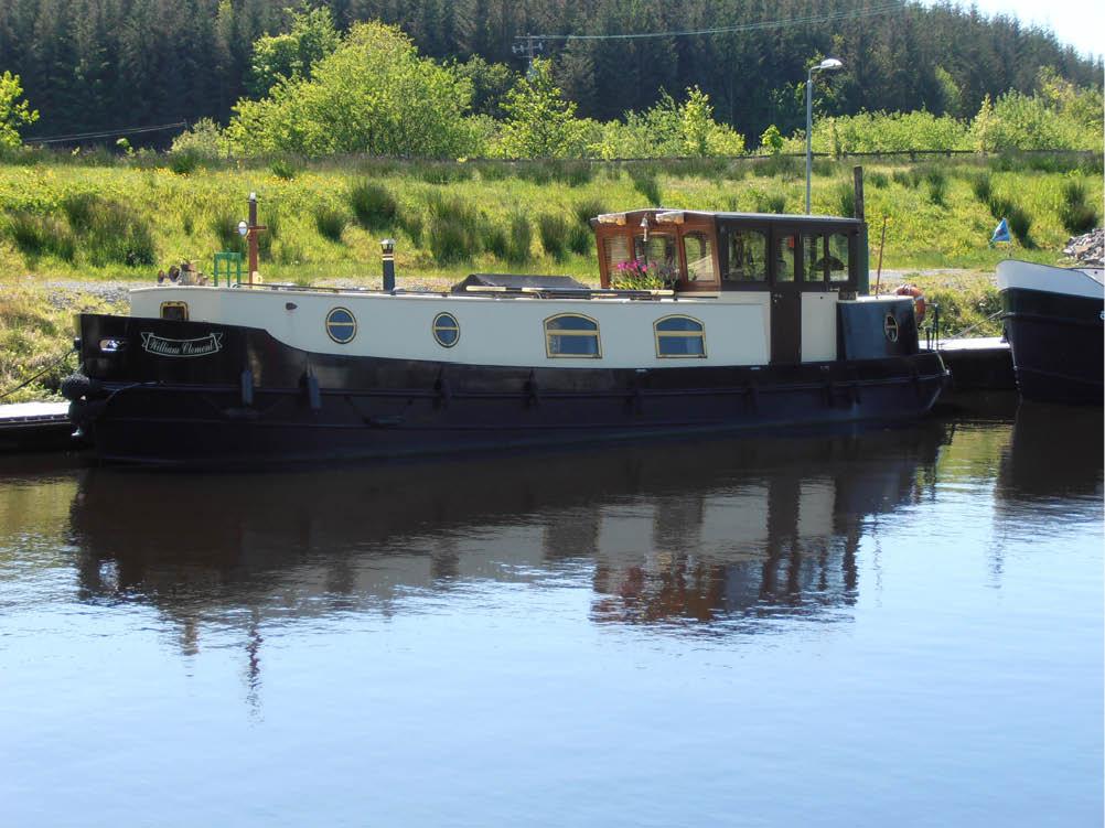 Traditional Irish narrowboat