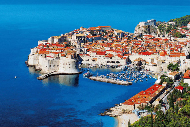 The spectacular sea side town of Dubrovnic.