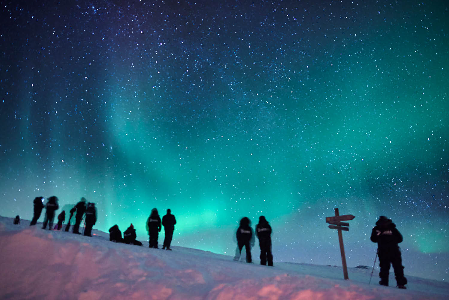 lights sky beautiful adventure aurora borealis
