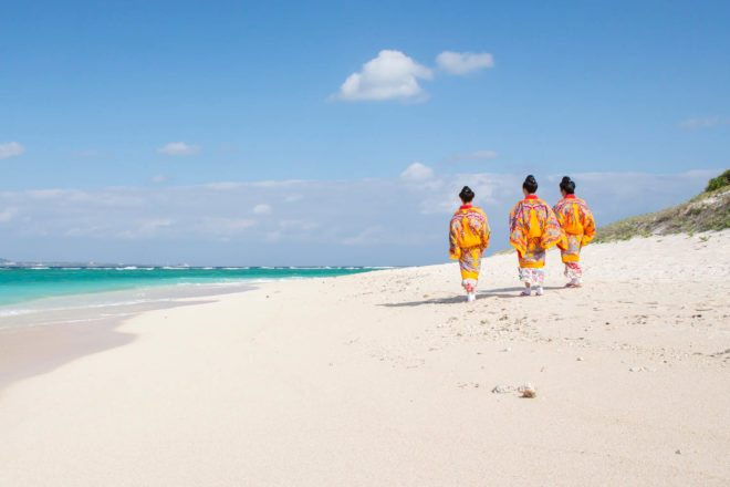 Okinawa convention and visitors bureau sand sun beach water swim luxury