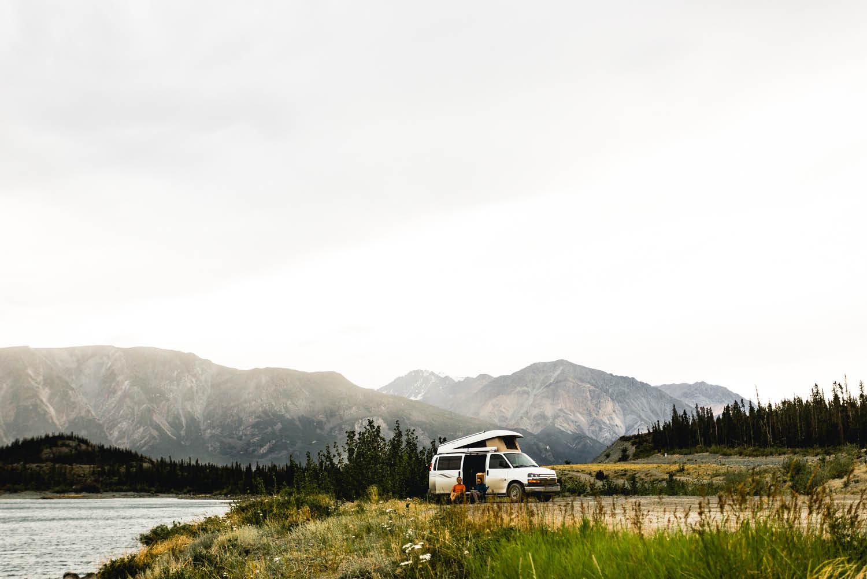 Road trip RV Yukon camping