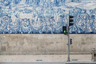 Blue azulejos tiles Capela das Almas Porto