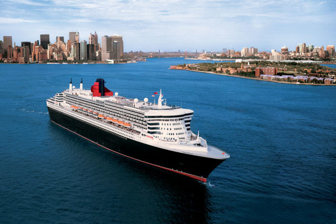 cruise travel boat ocean liner new york Queen Mary 2 new