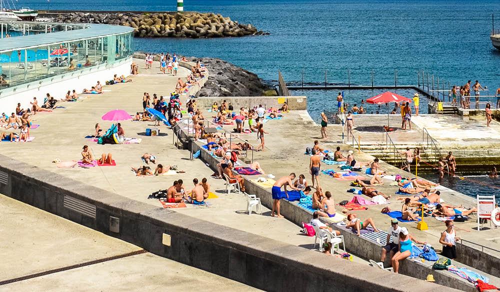 Portugal paradise water front relax beach monte santo Sete Cidades Ponta Delgada The azores