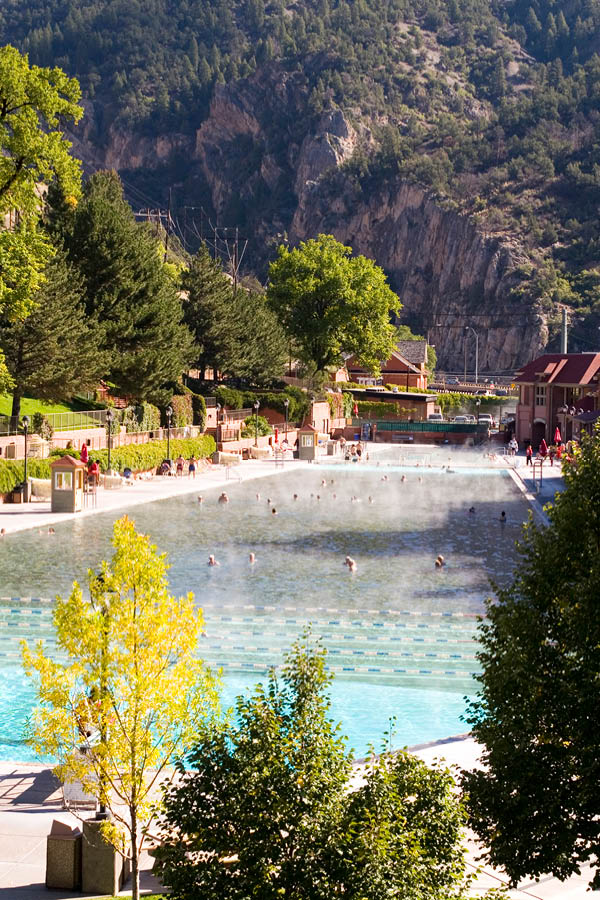 Colorado Hot Springs Glenwood Canyon