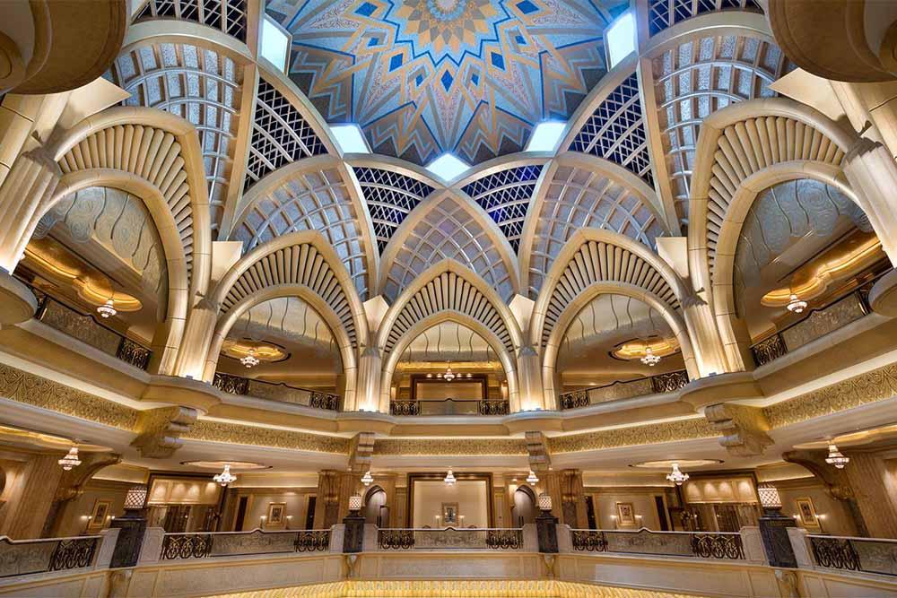 Emirates Palace Lobby Dome Abu Dhabi