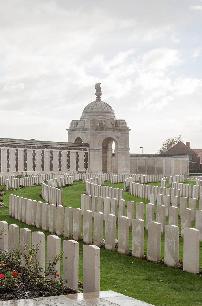 Cemetery fallen soldiers in World War I in Flanders Belgium