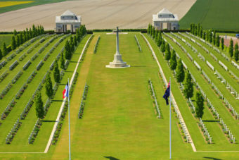 Australian military cemetery of the first world war at villers bretonneux