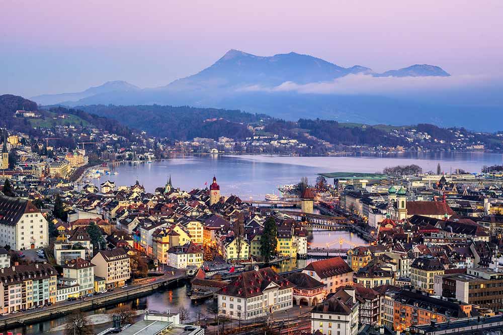 Majestic Lucerne at dusk