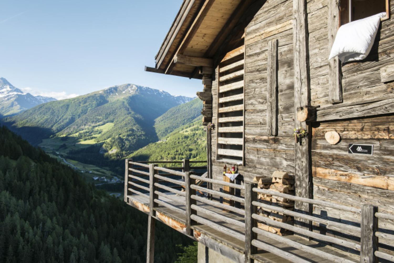 Swiss Alps mountain hut