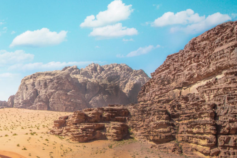 Exploring the dunes of Wadi Rum