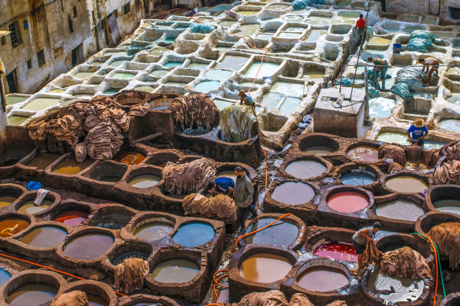 A leather tannery in Marrakech