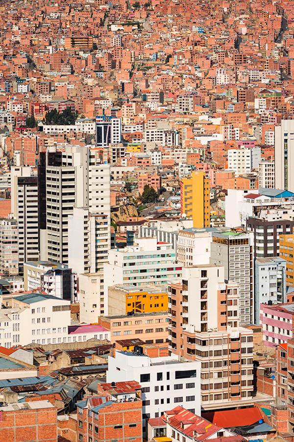 Residential neighborhood in La Paz Bolivia