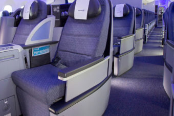 United Airlines Business Class.