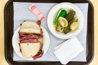 Pastrami on Rye from Katz's Deli, New York City.
