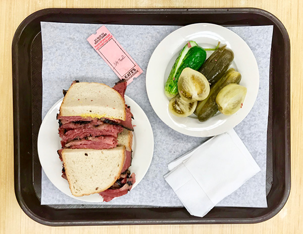 Pastrami on Rye from Katz Deli, New York City.