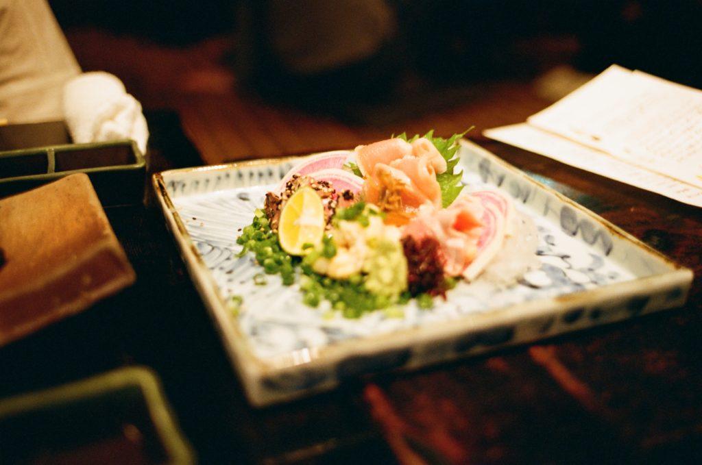 Chicken sashimi, Torisashi in Tokyo