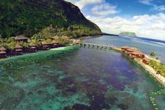 Aerial view of Samoa Aga Reef