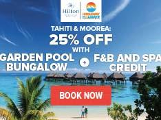 Travel for Hilton hotel moorea