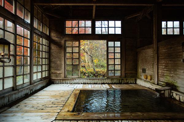 Inside of Onsen in Japan