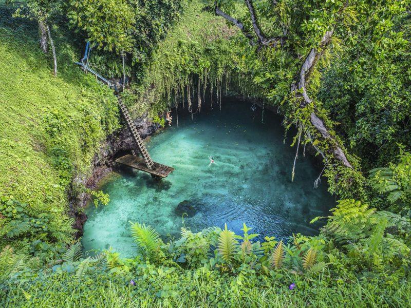 Samoa To Sua ocean Trench