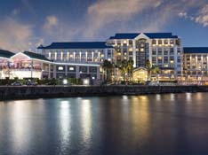 The Table Bay waterfront at night