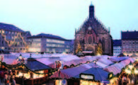 Nuremberg market at night