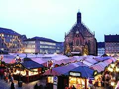 Nuremberg market at night