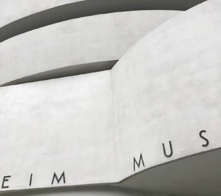 The iconic Guggenheim facade