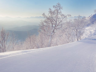 View of Tomamu mountains