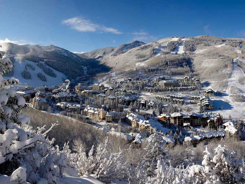 Vail Resorts aerial view of village