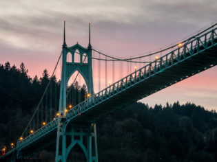 St Johns Bridge in Portland Oregon