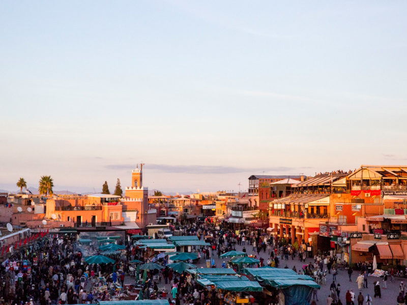Overlooking the souks of Marrakech