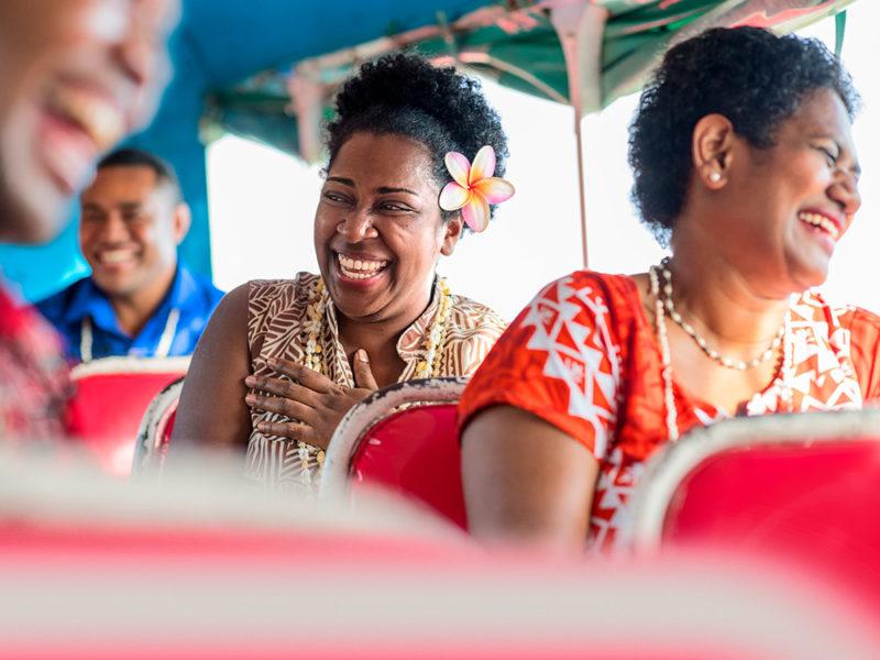 Fijian women laughing