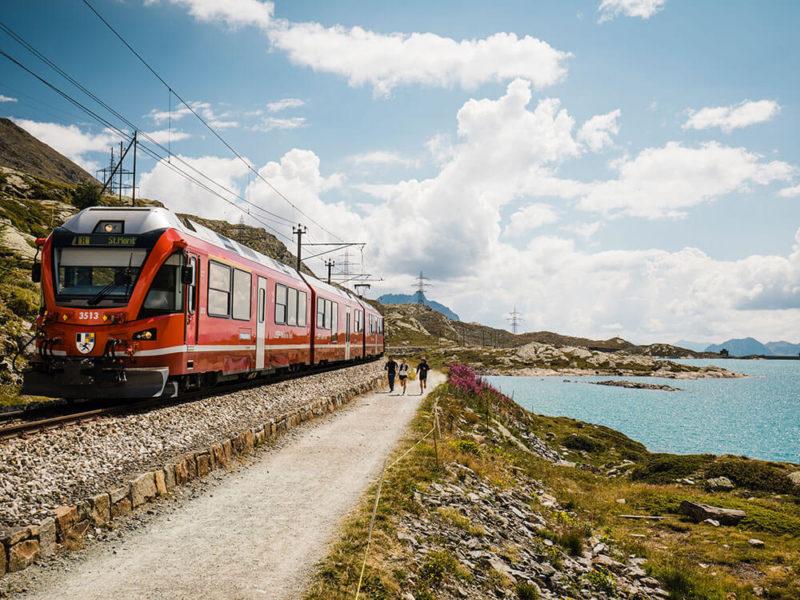 Bernina Express Chur to Alp Grüm Switzerland